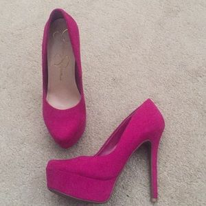 Pink Suede Jessica Simpson heels